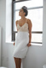 HOME APPAREL LACE CUP BALLERINA GOWN IVORY W/ NUDE LACE