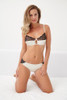 SILK WITH LEAVERS LACE ELOISE BRIEF VANILLA