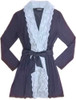 HOME APPAREL LACE FRONT ROBE DEEP BLUE W/ BLUE SMOKE LACE
