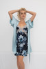 CLASSIC SILK PRINTED CHEMISE HEAVENLY BLUE FLORAL