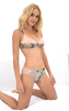 SILK WITH LEAVERS LACE ELOISE BRIEF KOI GARDEN