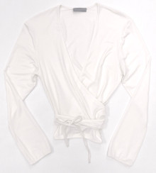 HOME APPAREL L/S BALLET WRAP IVORY