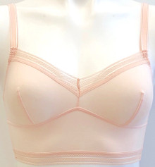 JET SET OUR FAVORITE LONGLINE BRA COTTON POWDER