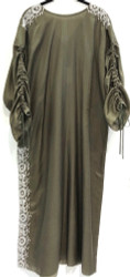 LIFESTYLE FLOOR LENGTH KAFTAN W/ EMBROIDERY OLIVE