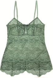 ALL LACE CLASSIC PYRAMID CAMI JASMINE GREEN