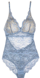 ALL LACE CLASSIC BODYSUIT MINERAL BLUE