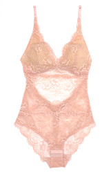 ALL LACE CLASSIC BODYSUIT CHERRY BLOSSOM