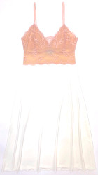 HOME APPAREL LACE CUP BALLERINA GOWN IVORY W/ CHERRY BLOSSOM LACE