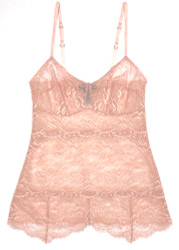 ALL LACE CLASSIC PYRAMID CAMI CHERRY BLOSSOM
