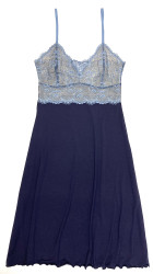 HOME APPAREL LACE CUP BALLERINA GOWN DEEP BLUE/MINERAL BLUE LACE