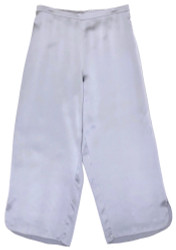 CLASSIC SILK CROPPED PJ PANT BLUE QUARTZ