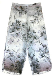 CLASSIC SILK CROPPED PJ PANT PRINTED BLISS
