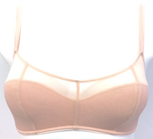 JET SET LIGHTLY LINED BANDEAU BRALETTE POWDER