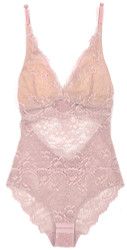 ALL LACE CLASSIC BODYSUIT JAVA MAUVE