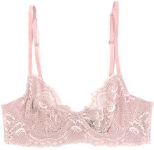 ALL LACE CLASSIC UNDERWIRE BRA JAVA MAUVE