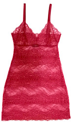 ALL LACE BOUDOIR FULL SLIP SCARLET