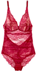 ALL LACE BOUDOIR BODYSUIT SCARLET