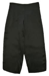 CLASSIC SILK CROPPED PJ PANT BLACK