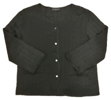 CLASSIC SILK QUILTED FILM NOIR JACKET BLACK