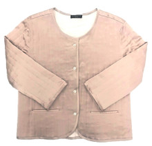 CLASSIC SILK QUILTED FILM NOIR JACKET POWDER NUDE