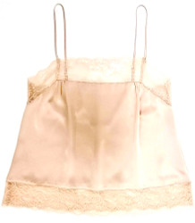SILK WITH LEAVERS LACE PIA UNDERPINNING POWDER NUDE