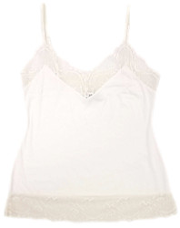 HOME APPAREL CAMISOLE IVORY W/ IVORY LACE