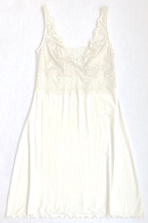 HOME APPAREL BUILT UP CHEMISE IVORY W/ IVORY LACE