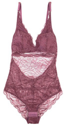 ALL LACE ROSES BODYSUIT MULBERRY