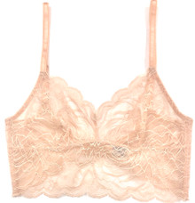 ALL LACE ROSES LONGLINE BRALETTE LATTE