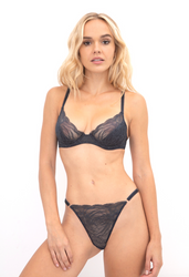 ALL LACE ROSES UNDERWIRE DEMI BRA NIGHTFALL