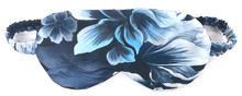 CLASSIC SILK REVERSIBLE EYEMASK HEAVENLY BLUE FLORAL
