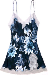 CLASSIC SILK PRINTED BABYDOLL HEAVENLY BLUE FLORAL