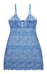 ALL LACE CLASSIC FULL SLIP OXFORD BLUE
