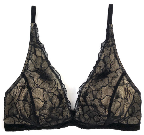 MY DAILY UPCYCLE BUILT-UP SOFT BRA BLACK
