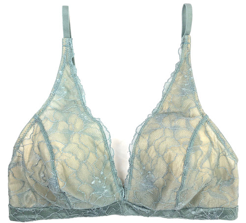 MY DAILY UPCYCLE BUILT-UP SOFT BRA CERULEAN