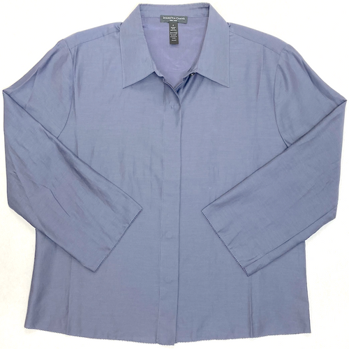 LIFESTYLE CROPPED SHIRT BLUE