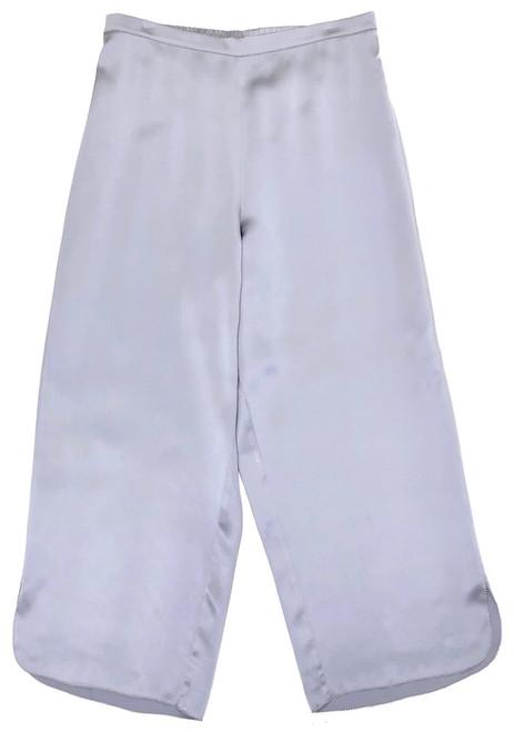 CLASSIC SILK CROPPED PJ PANT BLUE QUARTZ