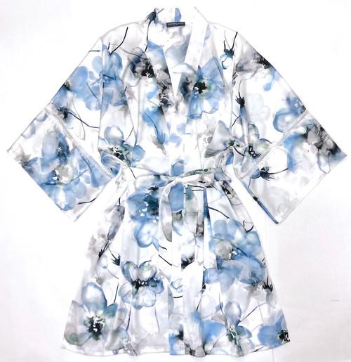 WELLNESS BELLA KIMONO PRINTED WISPY BLUES
