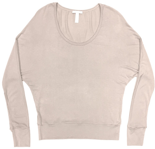 HOME APPAREL DOLMAN SLEEVE TOP OATMEAL