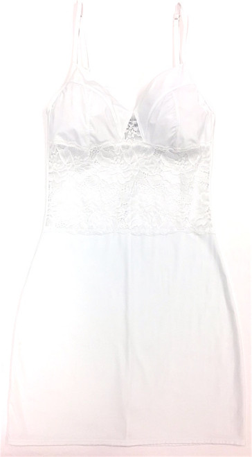 MY DAILY FULL SLIP - NEW LACE WHITE