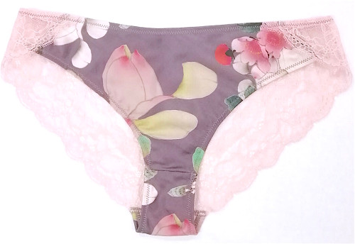SILK WITH LEAVERS LACE ELOISE BRIEF EDEN
