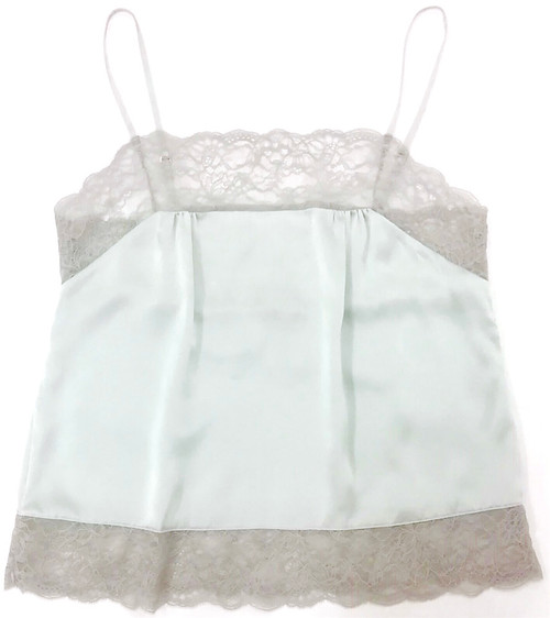 SILK WITH LEAVERS LACE PIA UNDERPINNING SPEARMINT