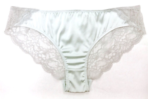SILK WITH LEAVERS LACE ELOISE BRIEF SPEARMINT