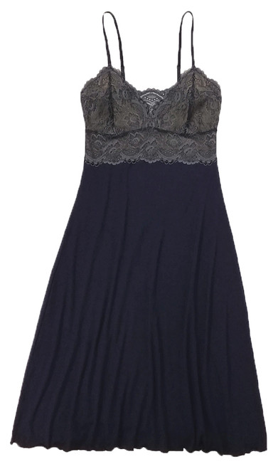 HOME APPAREL LACE CUP BALLERINA GOWN DEEP BLUE W/ STEEL LACE