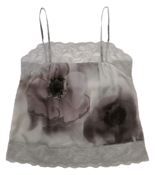 SILK WITH LEAVERS LACE PRINTED PIA UNDERPINNING DREAM