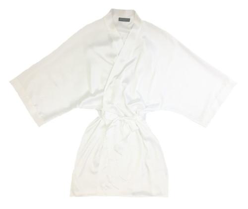 CLASSIC BRIDAL SHORT PRINTED KIMONO WHITE