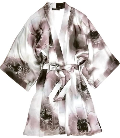 CLASSIC SILK SHORT PRINTED KIMONO DREAM
