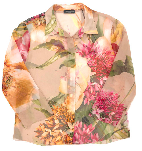 LIFESTYLE PRINTED CROPPED SHIRT CAMILLE