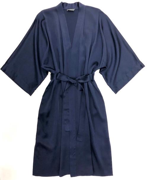 CLASSIC SILK KIMONO MIDNIGHT BLUE