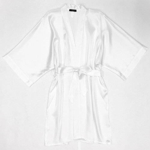 BRIDAL CLASSIC SHORT KIMONO WHITE